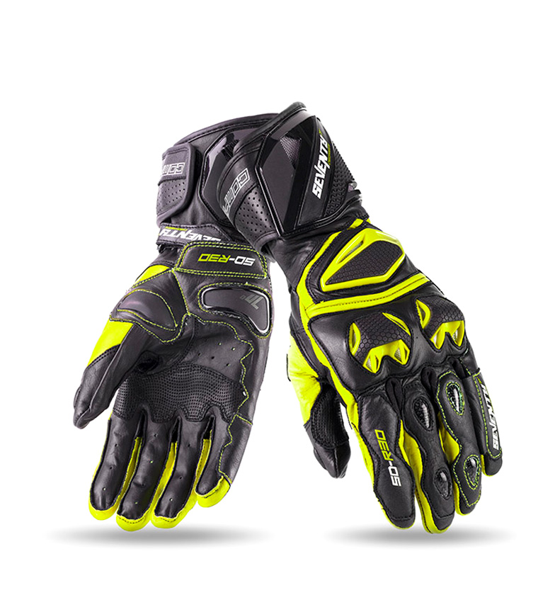 Comprar Seventy Leather gloves SD-R30 Racing black, yellow