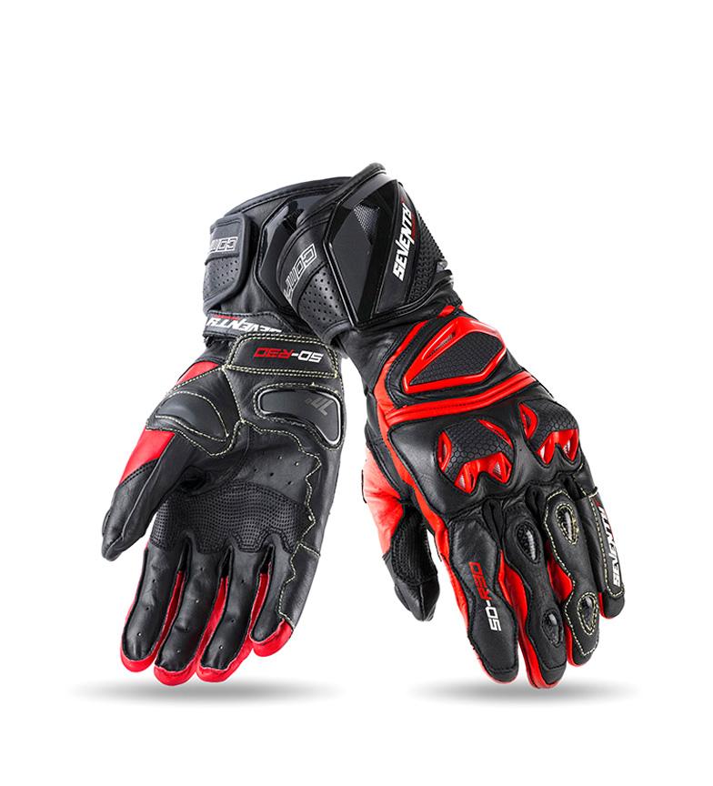 Comprar Seventy Leather gloves SD-R30 Racing black, red