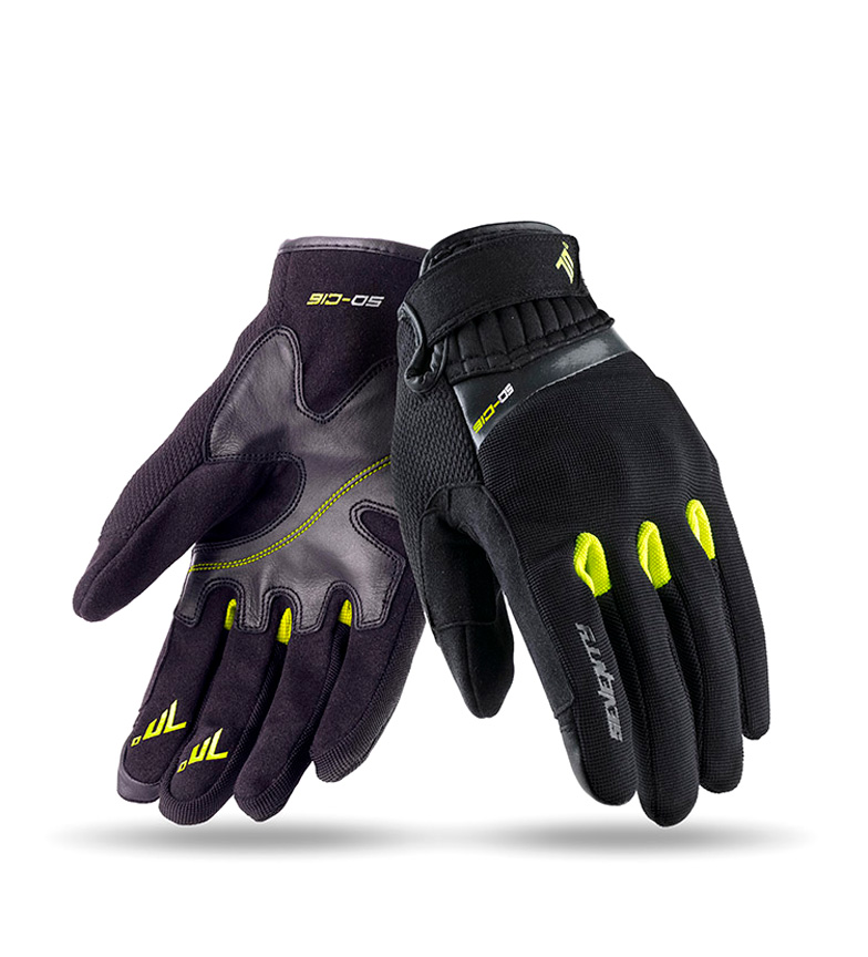 Comprar Seventy Leather gloves SD-C16 Urban black, yellow
