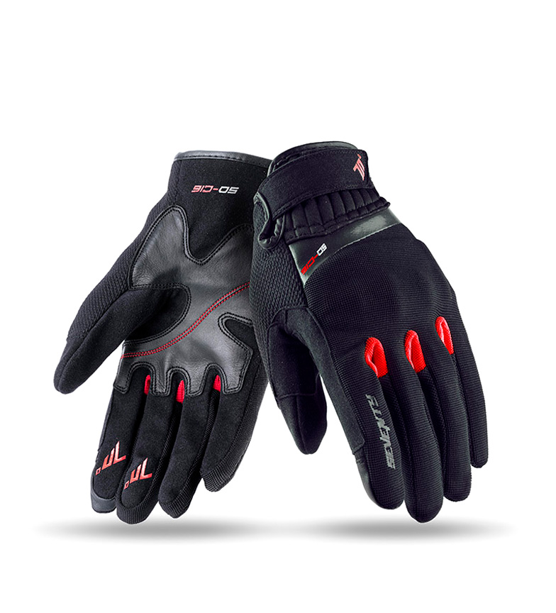 Comprar Seventy Leather gloves SD-C16 Urban black, red