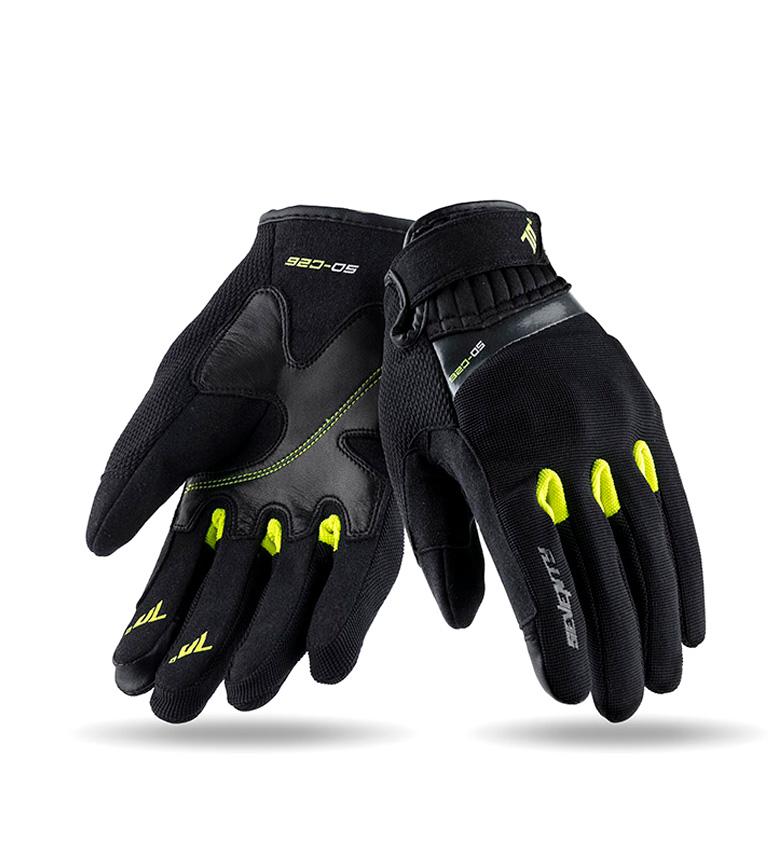 Comprar Seventy Guanti in pelle SD-C26 Urban nero, giallo