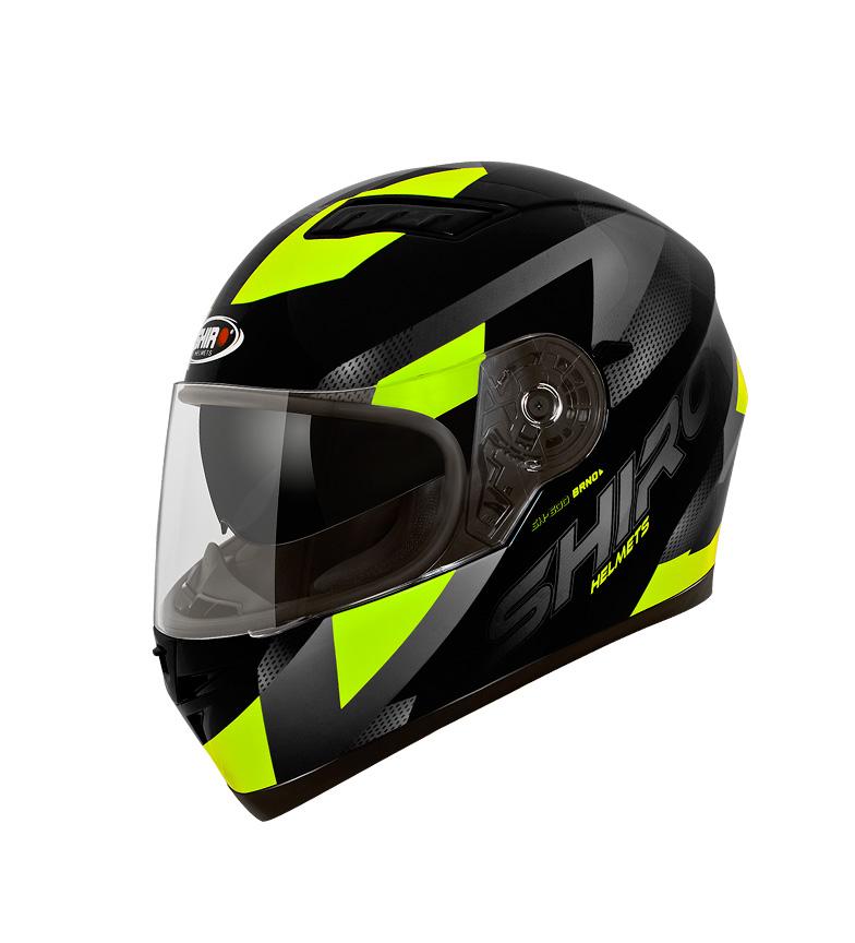 Comprar SHIRO HELMETS Casco Integral SHIRO SH-600 Brno negro, amarillo fluor