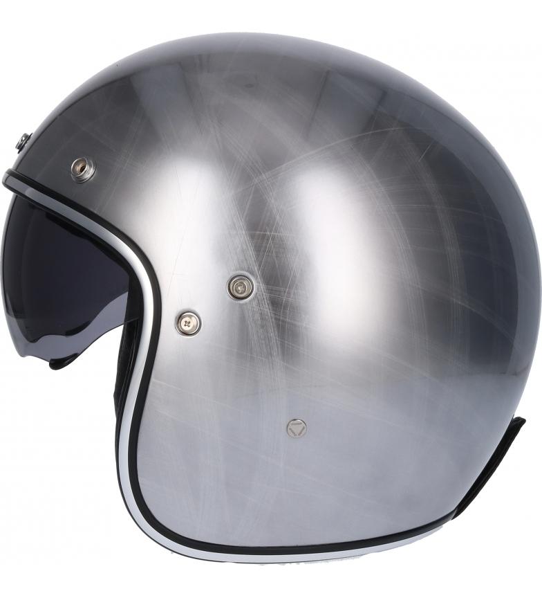 Comprar SHIRO HELMETS Jet helmet SH 235 Scratched Chrome chrome broken