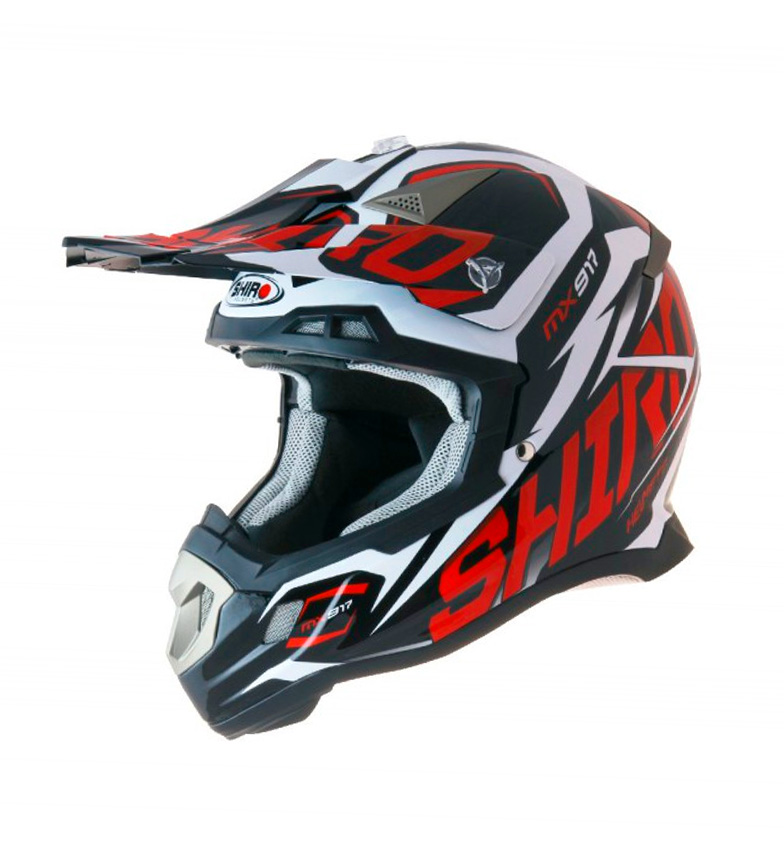 Comprar SHIRO HELMETS Casco SHIRO Off Road Thunder Red MX-917 BAMBINI