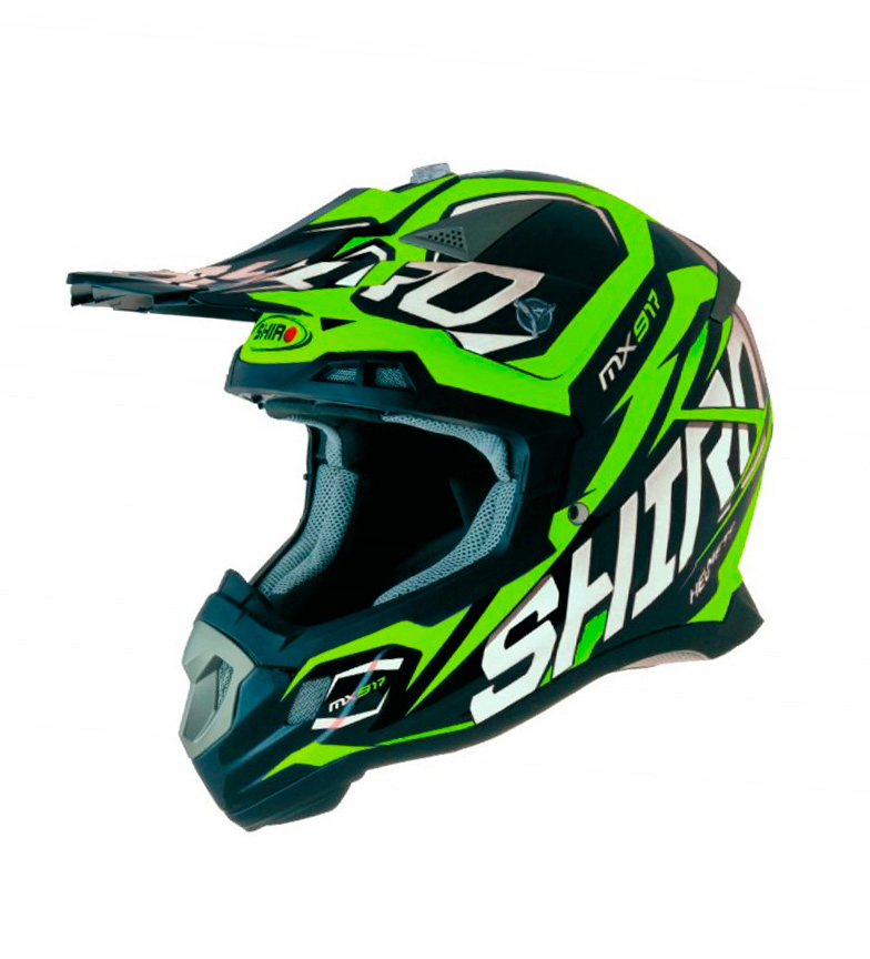 Comprar SHIRO HELMETS Casco SHIRO Off Thunder Road MX-917 ENFANTS vert fluorées
