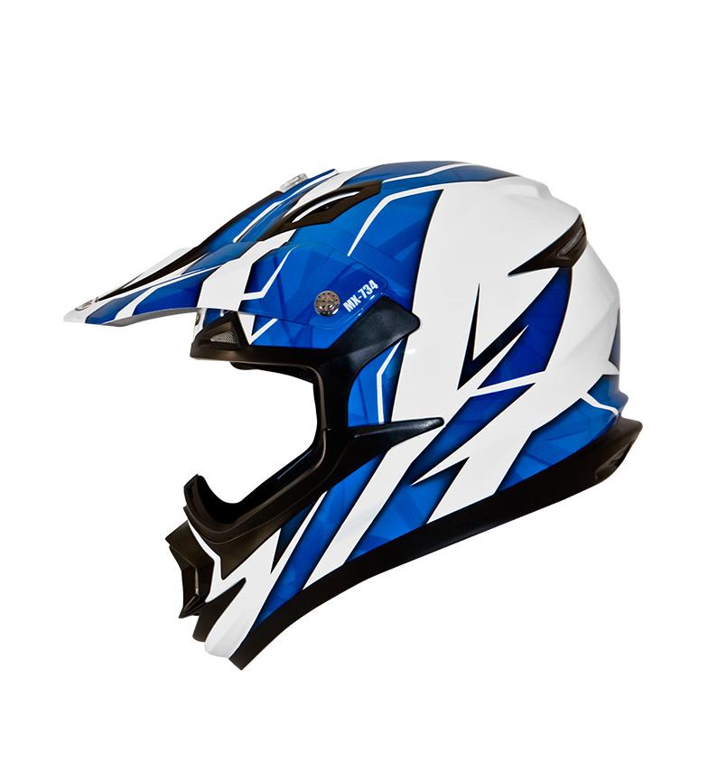 Comprar SHIRO HELMETS Casco Off Road SHIRO MX-734 Troy azul