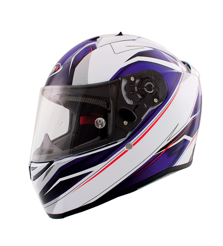 Comprar SHIRO HELMETS Casco Integral SHIRO SH-336 Crown azul, blanco
