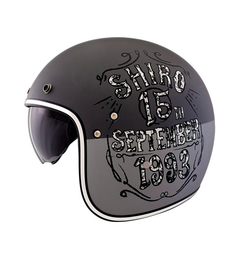 Comprar SHIRO HELMETS Jet helmet SH 235 Born matt gray