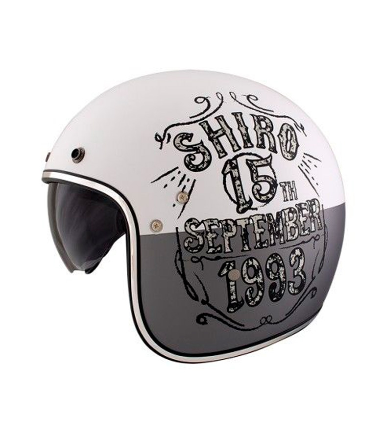 Comprar SHIRO HELMETS Jet helmet SH 235 Born white matt
