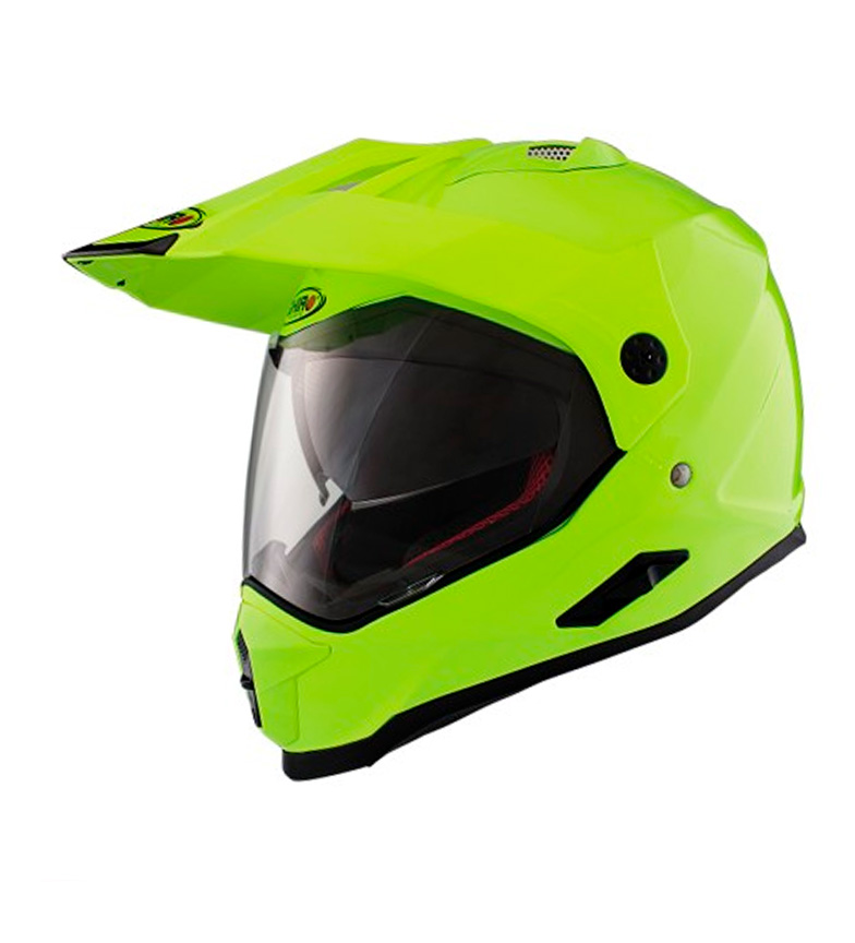 Comprar SHIRO HELMETS Casco Off Road 313 Monocolor amarillo flúor