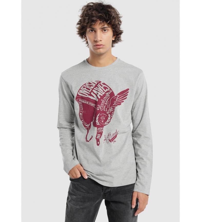 Comprar Six Valves T-shirt gris imprimé