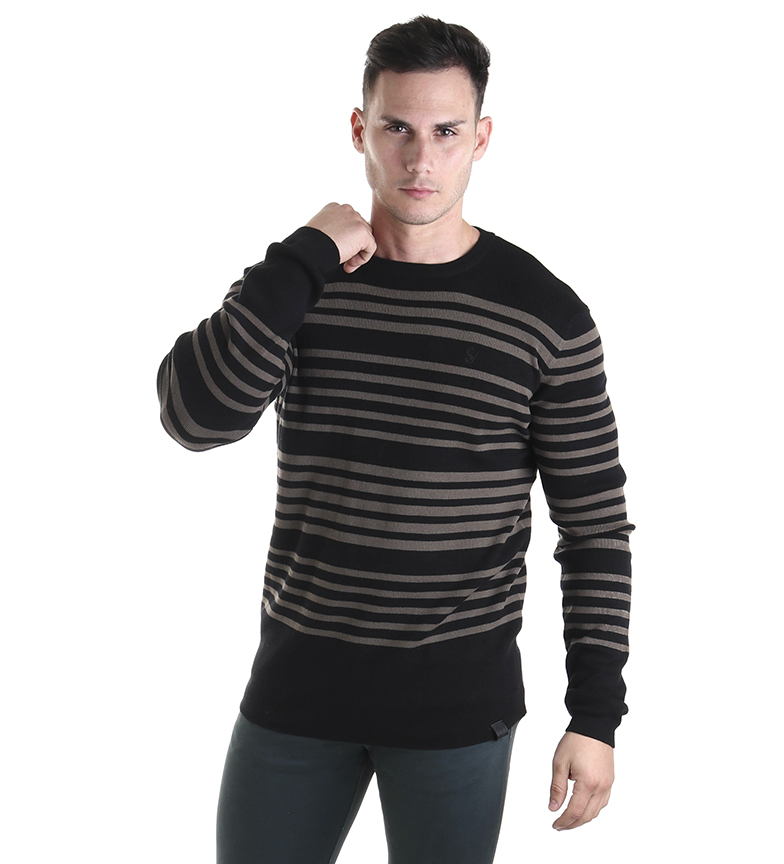 Comprar Six Valves Black striped sweater