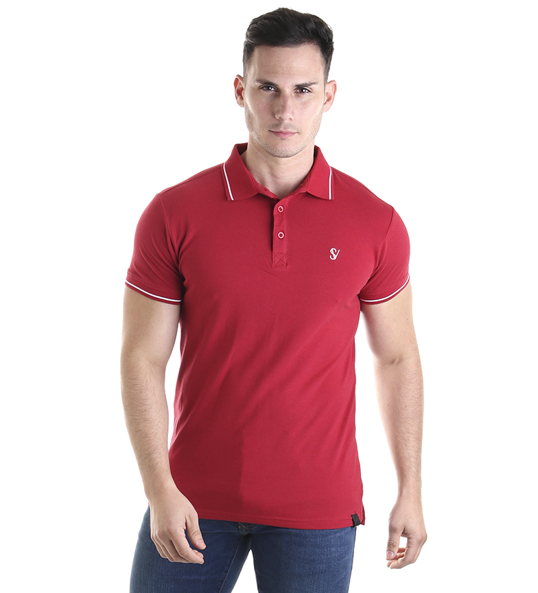 Comprar Six Valves Double red polo shirt