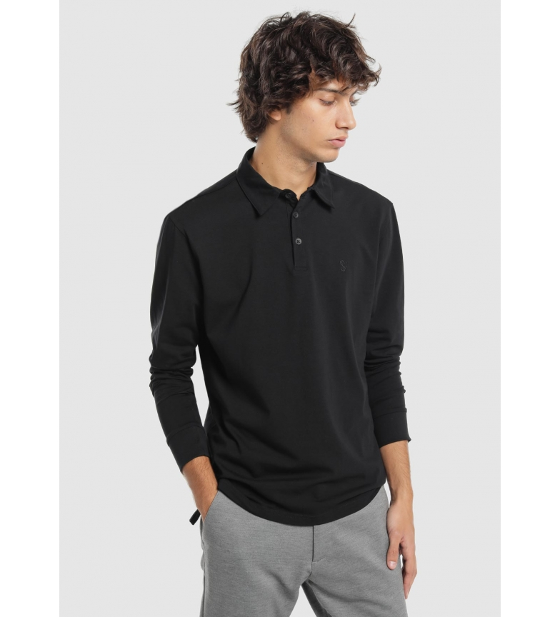 Comprar Six Valves Basic black polo shirt