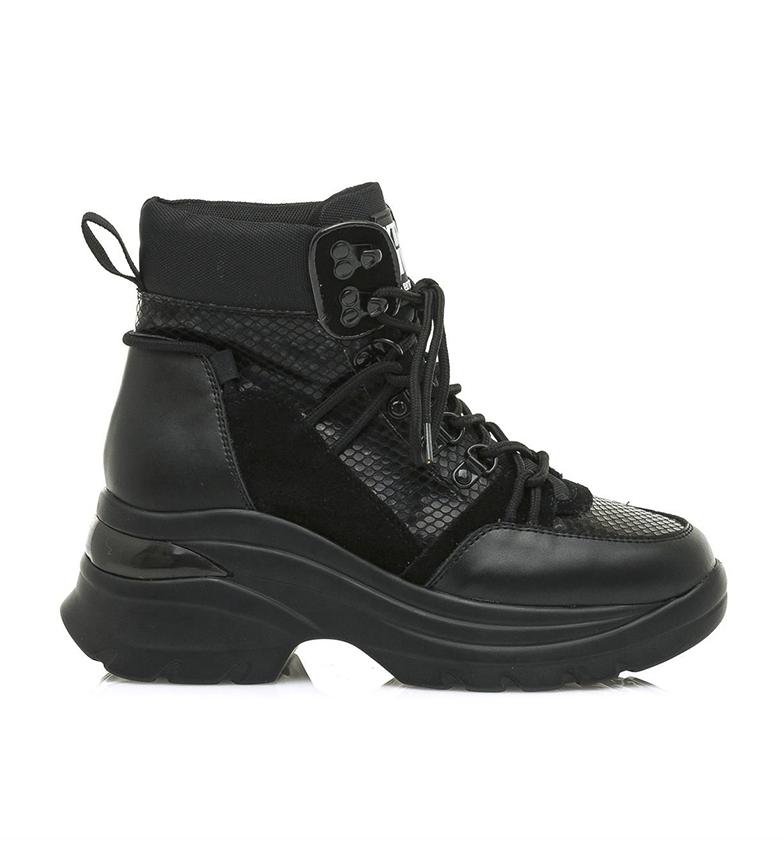 Comprar SixtySeven Botas de couro preto Luana - altura da plataforma da cunha: 5 cm