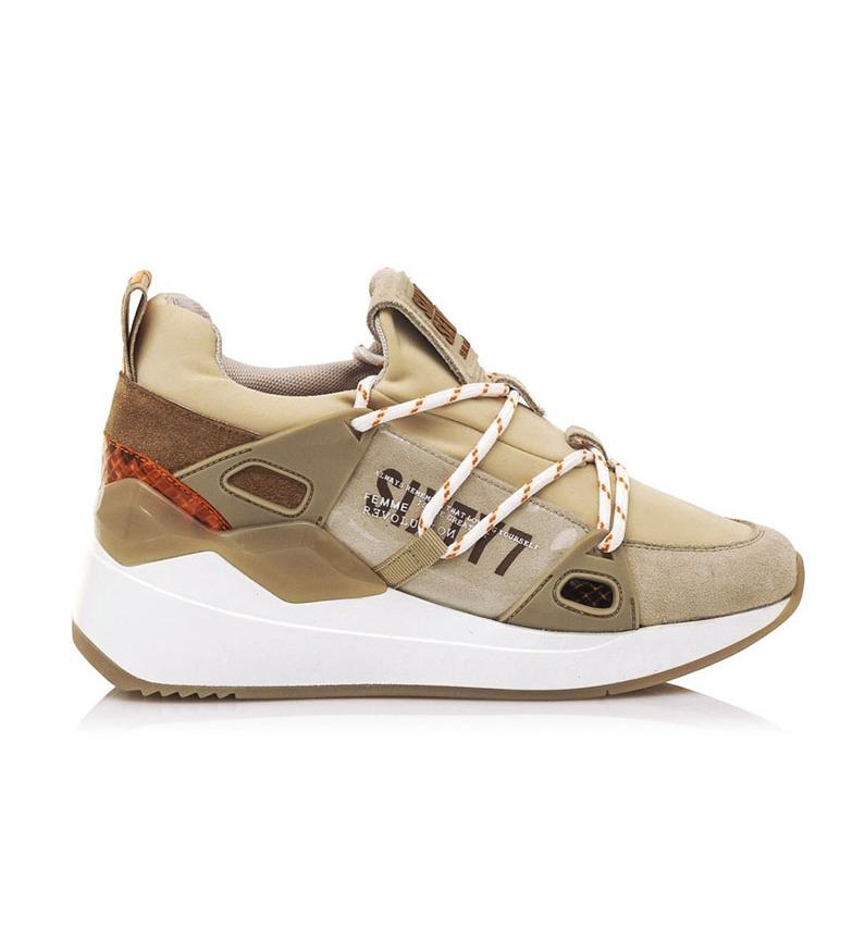 Comprar SixtySeven Pantofole in pelle Beige Silva - Altezza zeppa: 5cm