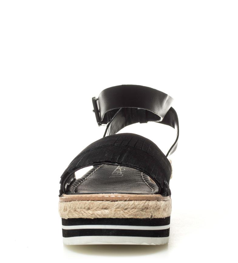 plataforma negro 5cm SixtySeven Altura piel Sandalias de Nerys 6xZYw