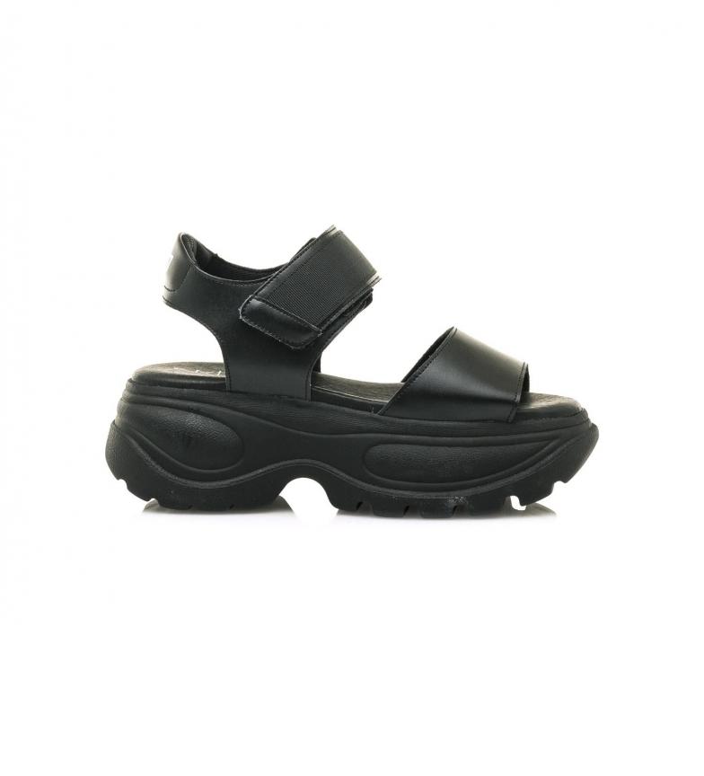 SixtySeven Sandalias Flash negro -Altura plataforma: 6,5 cm-