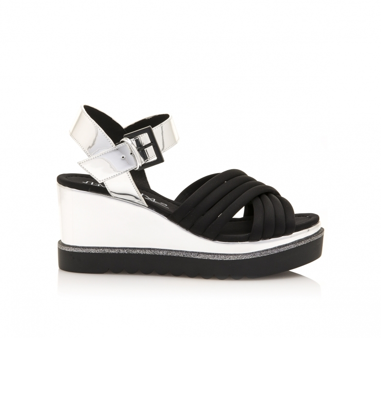 Comprar SixtySeven Prian silver sandals -Height wedge: 8 cm