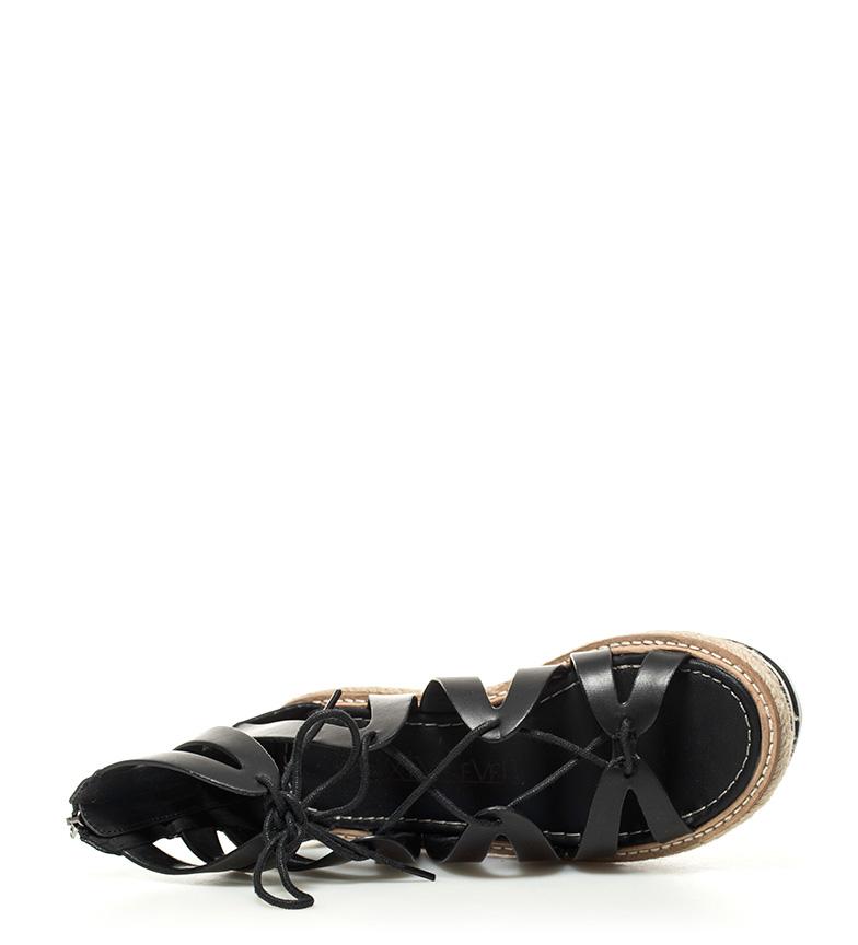 Altura Romina SixtySeven negro 5cm plataforma Sandalias 5 wtw5nqAHx