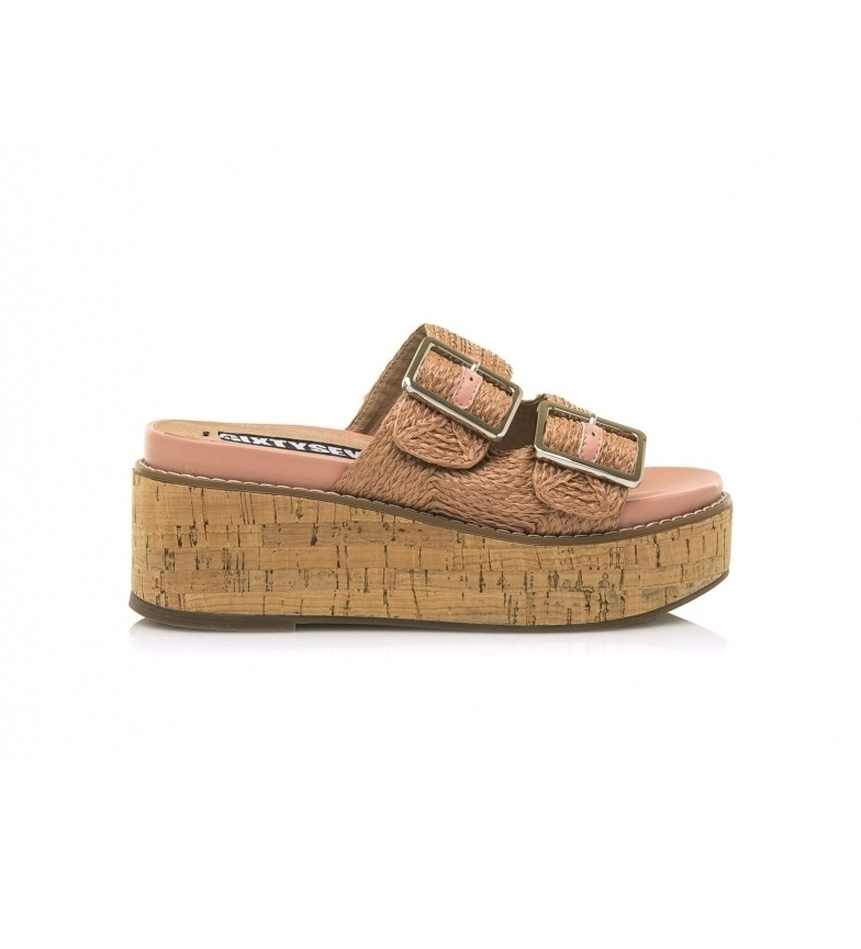 Comprar SixtySeven Tamis pink sandals -Height of the wedge: 7,5cm