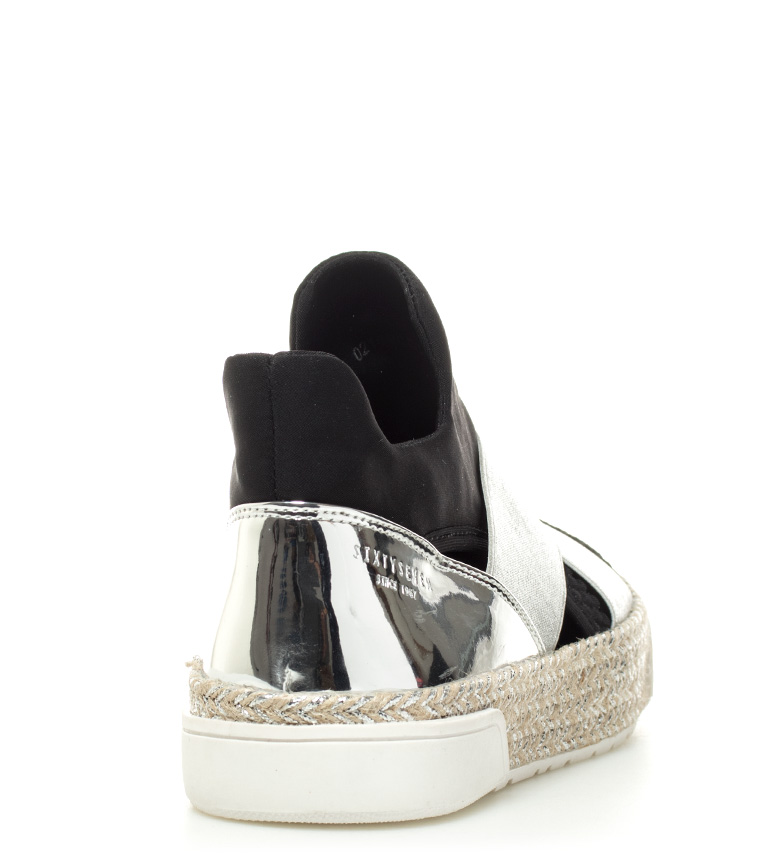 SixtySeven Zapatillas Muhl plata, negro Altura plataforma: 3cm