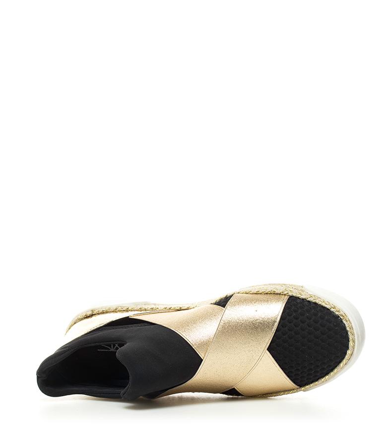 SixtySeven Zapatillas Muhl dorado, negro Altura plataforma: 3cm