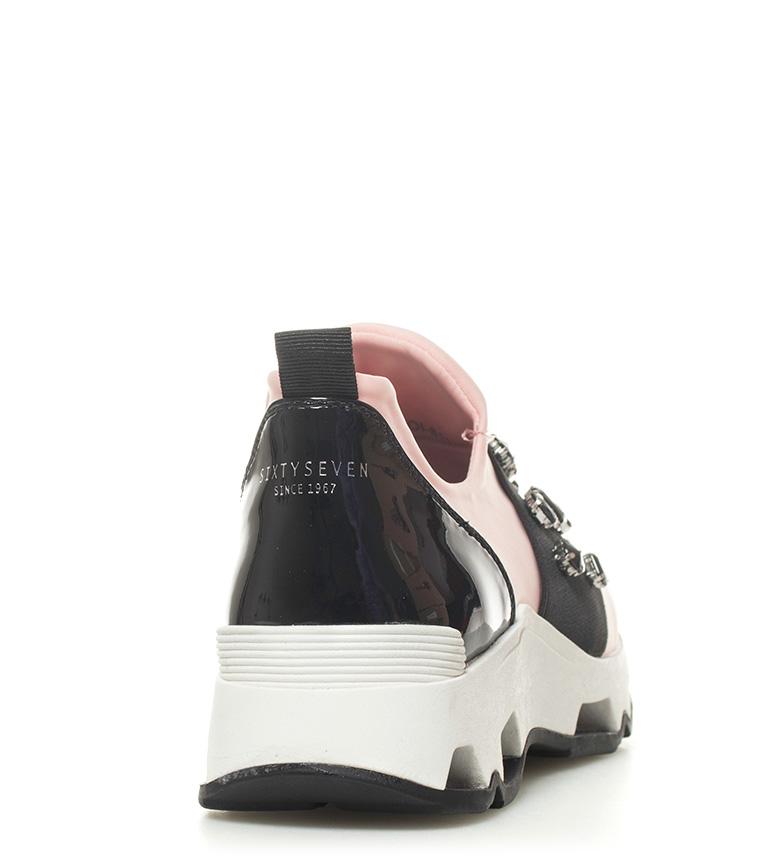 plataforma Altura Zapatillas rosa negro 4cm SixtySeven Jewel rosa Jewel Zapatillas SixtySeven qznwA4841