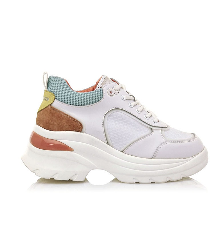 Comprar SixtySeven Sneakers Cansas in pelle bianca, multicolore -Platform height: 5cm