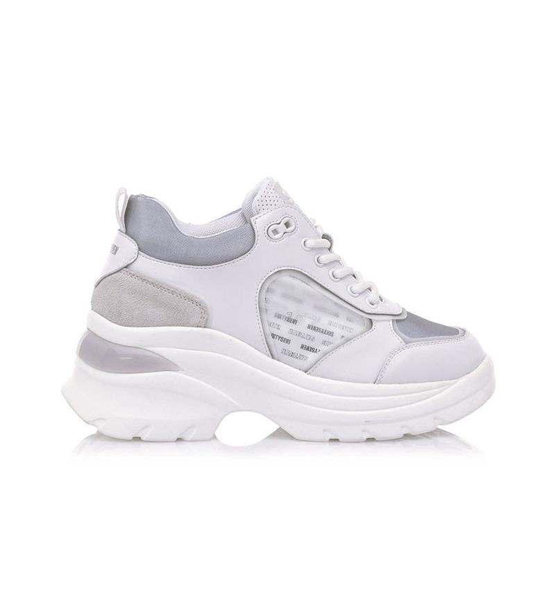 Comprar SixtySeven Cansas scarpe di pelle bianca, grigia -Altezza della piattaforma: 5cm