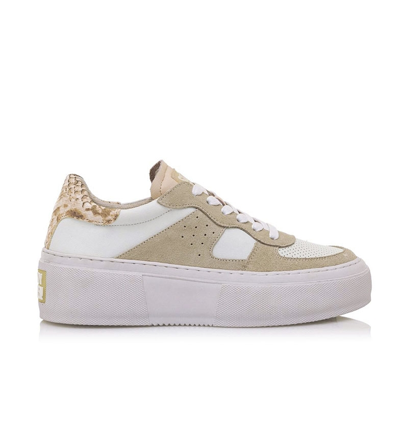 Comprar SixtySeven Sneakers Jogne in pelle bianca, serpente - Plateau alto: 5,5 cm