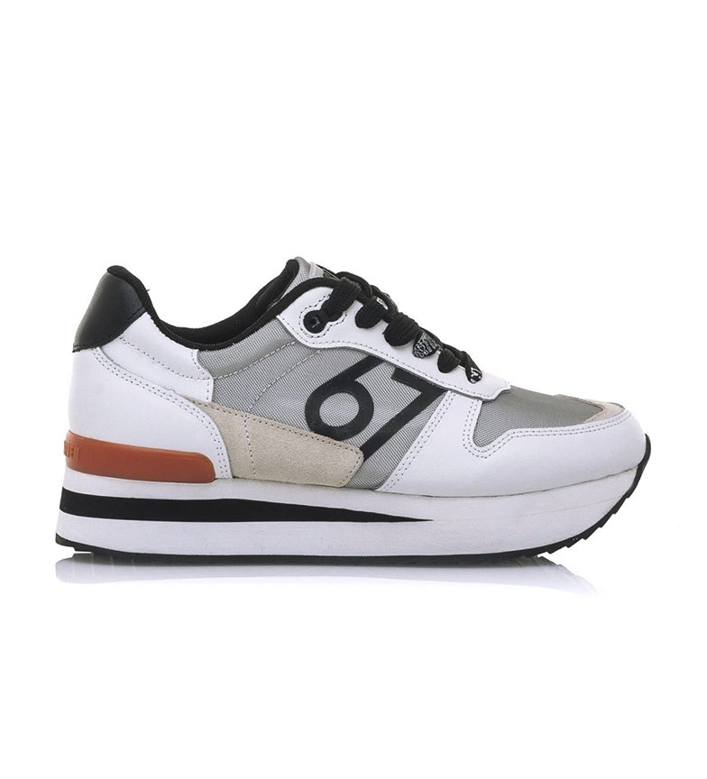 Comprar SixtySeven Mesta leather shoes white, silver