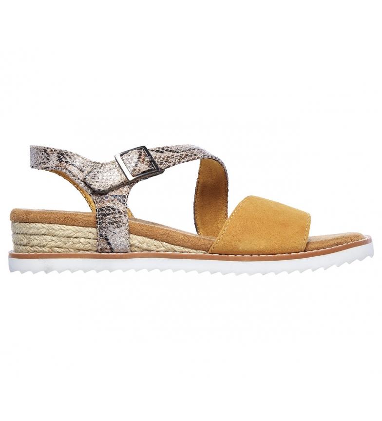 Comprar Skechers Sandálias de Couro KIss do Deserto - Cactus Rose Grey, Amarelo
