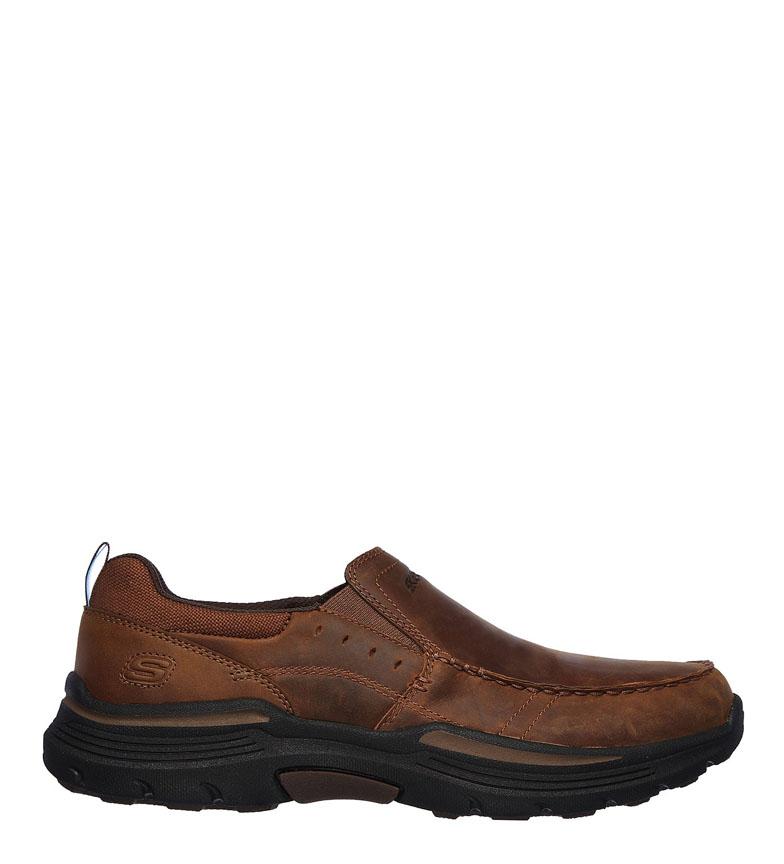 Comprar Skechers Seveno chaussures en cuir marron dépensé -Relaxed Fit