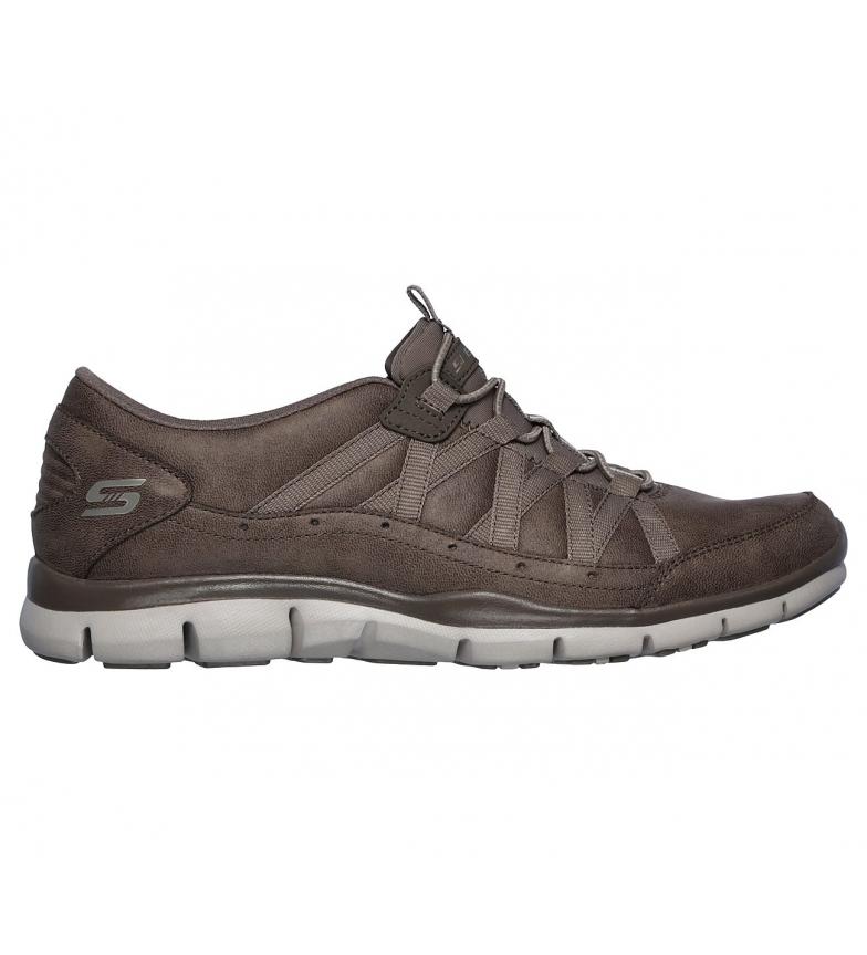 Skechers Pantofole gratuite - Taupe Fine Taste