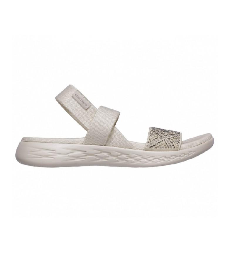 Skechers Sandali On The Go 600 - Bianco scintillante