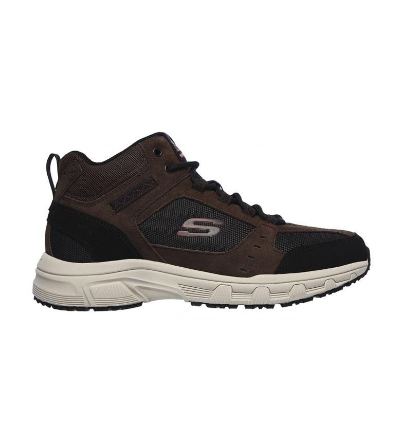 Comprar Skechers Sapatos de Camurça de Couro Castanho de Carvalho Canyon