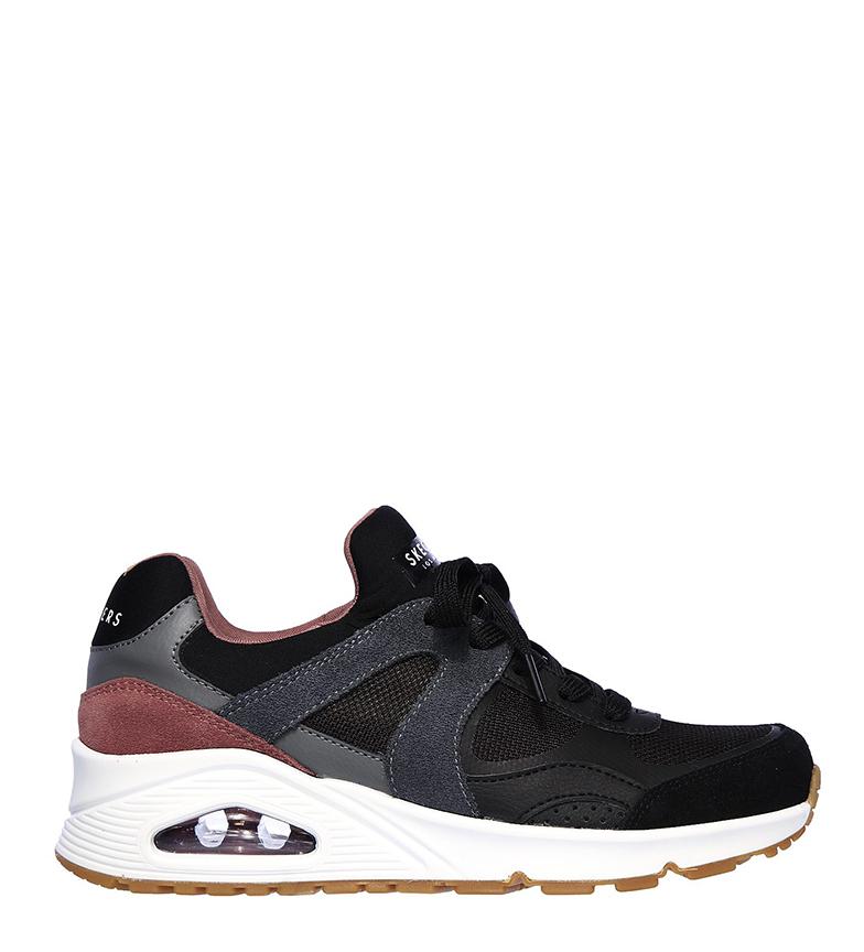 Comprar Skechers Scarpe Street One in pelle - Super Fresh Shoe grigia, viola