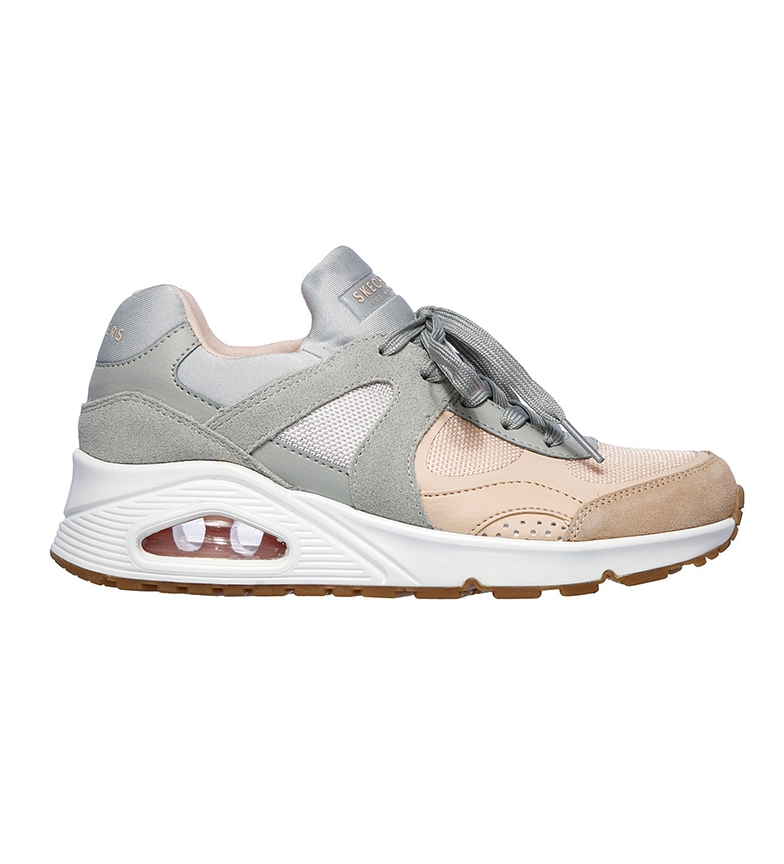 Comprar Skechers Street One Leather Shoes - Super Fresh Shoe cinza, rosa