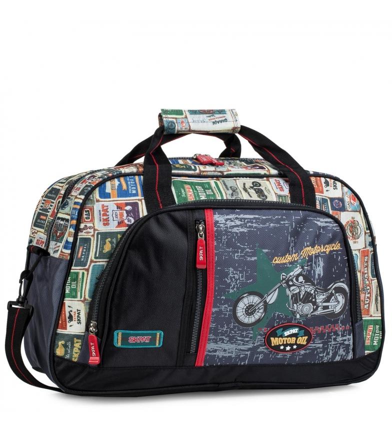 Skpat Children's Motorcycle Canvas Sports Bag. 130545 black -40x28x20cm