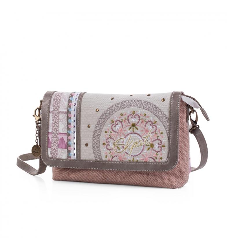 Comprar Skpat Skpat Charleston borsa a tracolla colore beige-rosa -19x28x28x6-