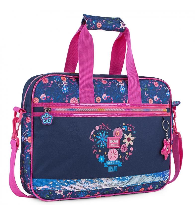 Comprar Skpat Carteira de Menina Impressão Floral com brilho 131506 azul marinho -39x29x6cm