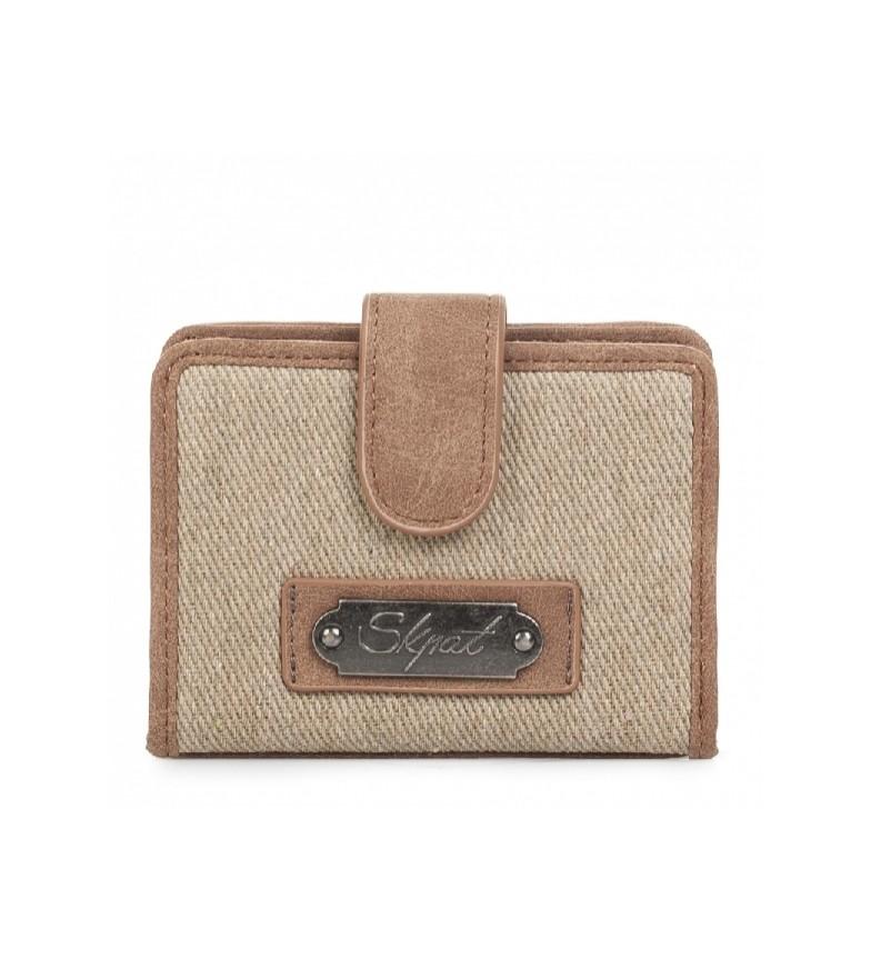 Comprar Skpat Portafoglio Skpat Madison porta carte di credito colore beige -7,8x10,5x2-