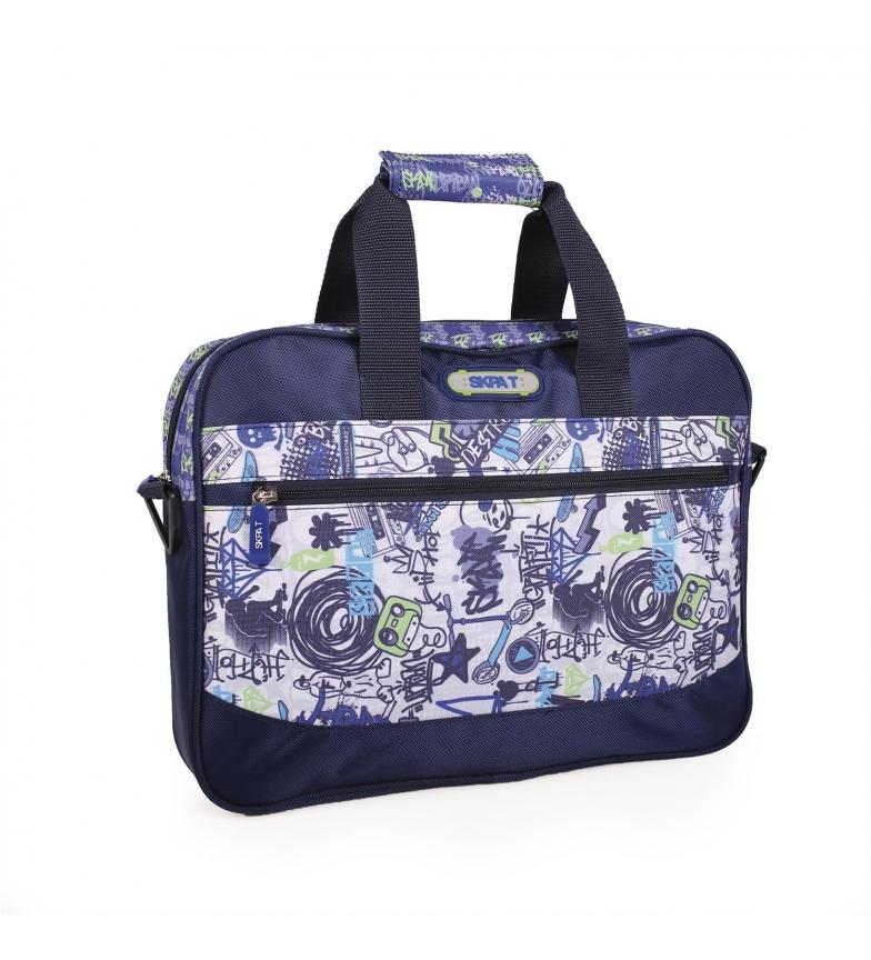 Comprar Skpat Maletín Extraescolar Skpat Graffiti color azul -29x39x6-