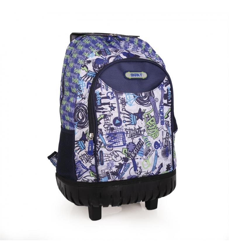 Comprar Skpat Mochila Con Ruedas Skpat Graffiti color azul -52x35x25-
