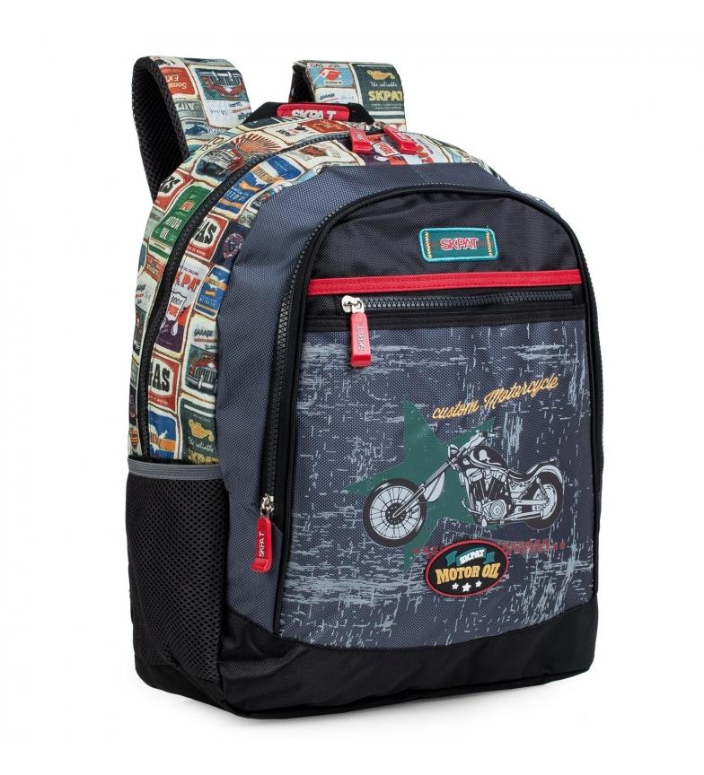 Skpat Junior School Backpack 130502 black -43x33x16cm