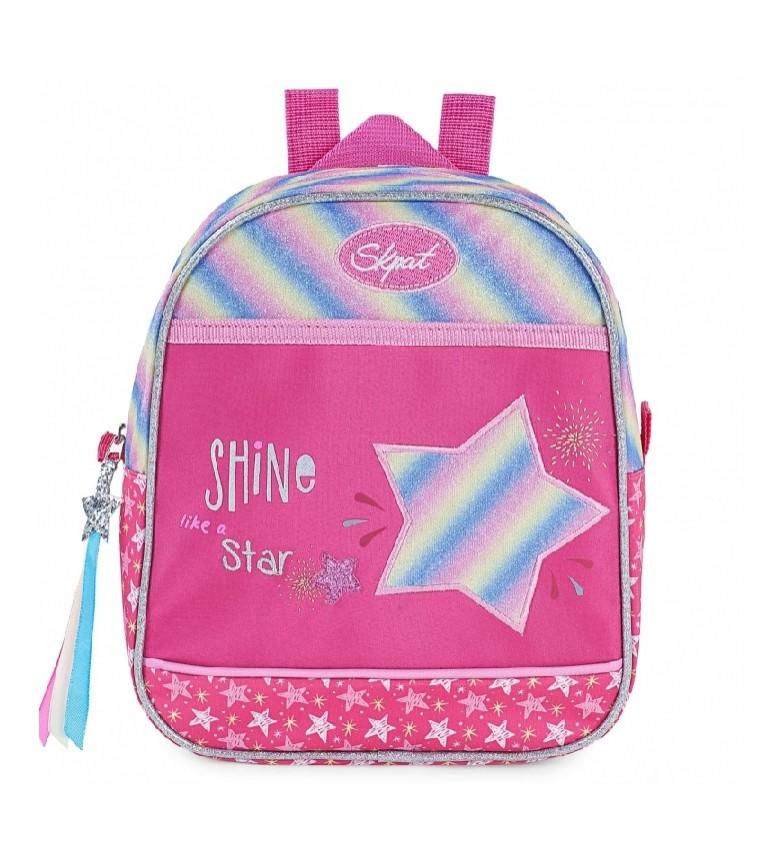 Comprar Skpat Children's School Backpack Girl Padded and Printed 131334 fuchsia -22x25x10 cm