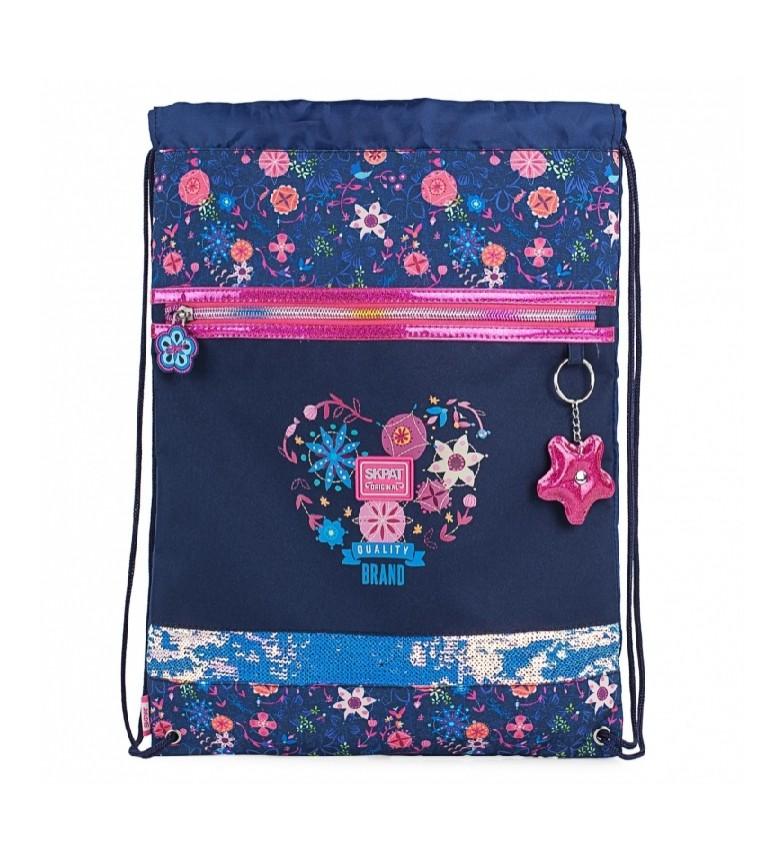 Comprar Skpat Printed Satchel Bag 131541 navy blue -23x25x10cm