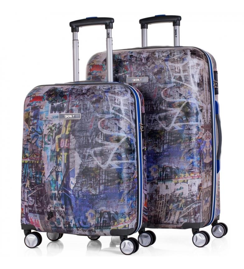Comprar Skpat Set 2 maletas trolley Skpat Belgrado Travel color gris oscuro 50x38x22 cm/ 70x44x25 cm