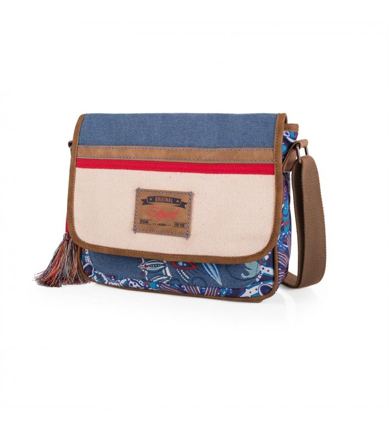 Comprar Skpat SKPAT Bolso Bandolera Ethnic color azul -21x26x7-